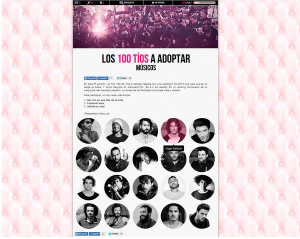 "Ranking de los 100 tíos músicos que ""adoptarías"""