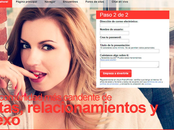 Registro Adultfriendfinder