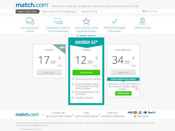 Precios Match