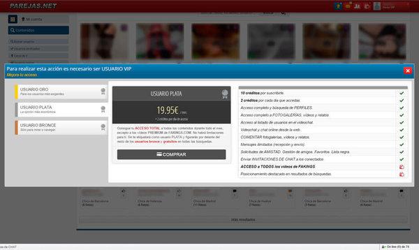 Usuario Plata en Parejas.net