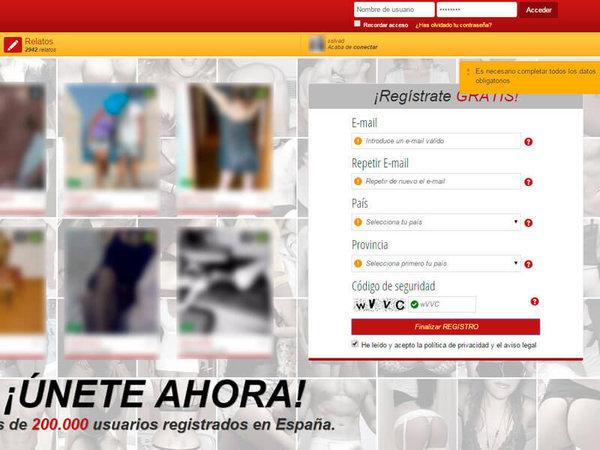 Registro en Parejas.net