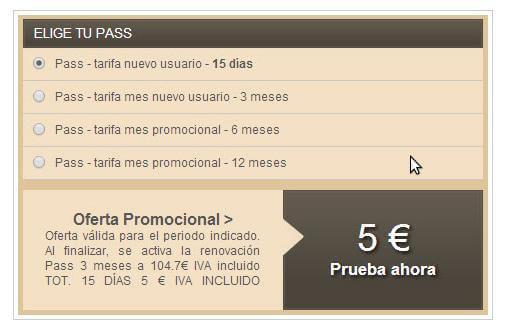 Casual club precios