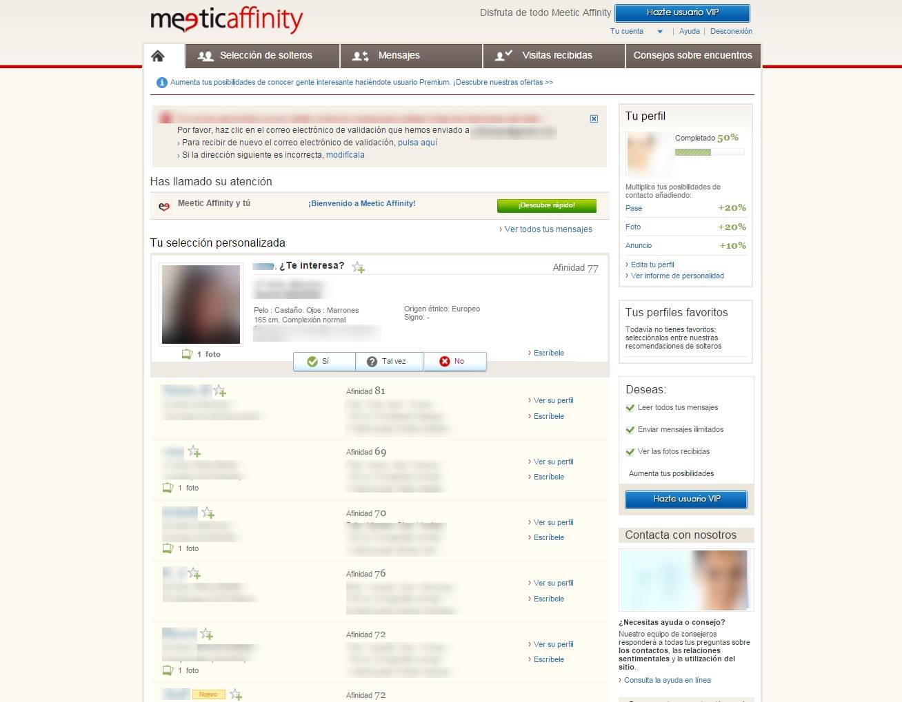 Meetic affinity opiniones