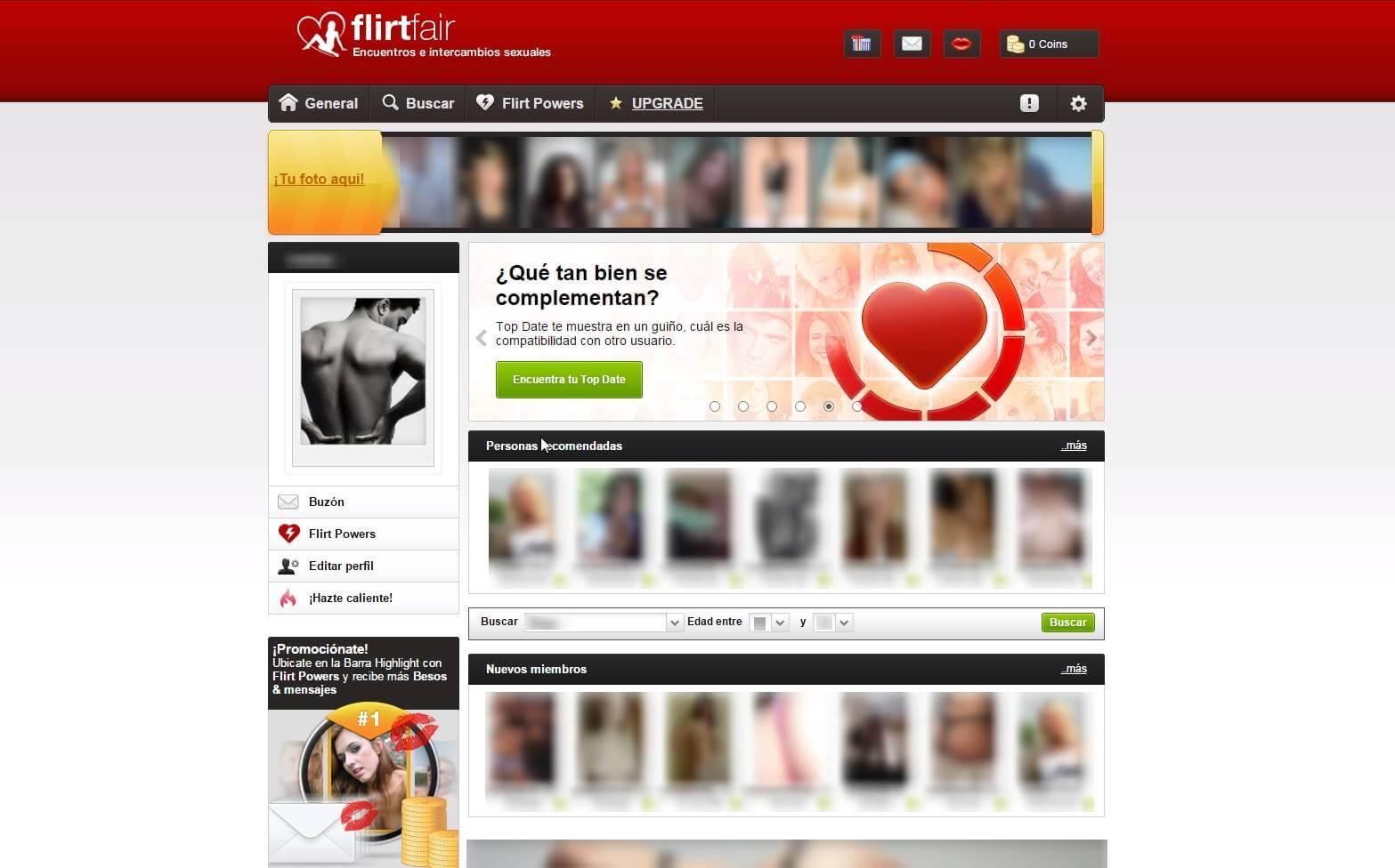 Perfil en FlirtFair