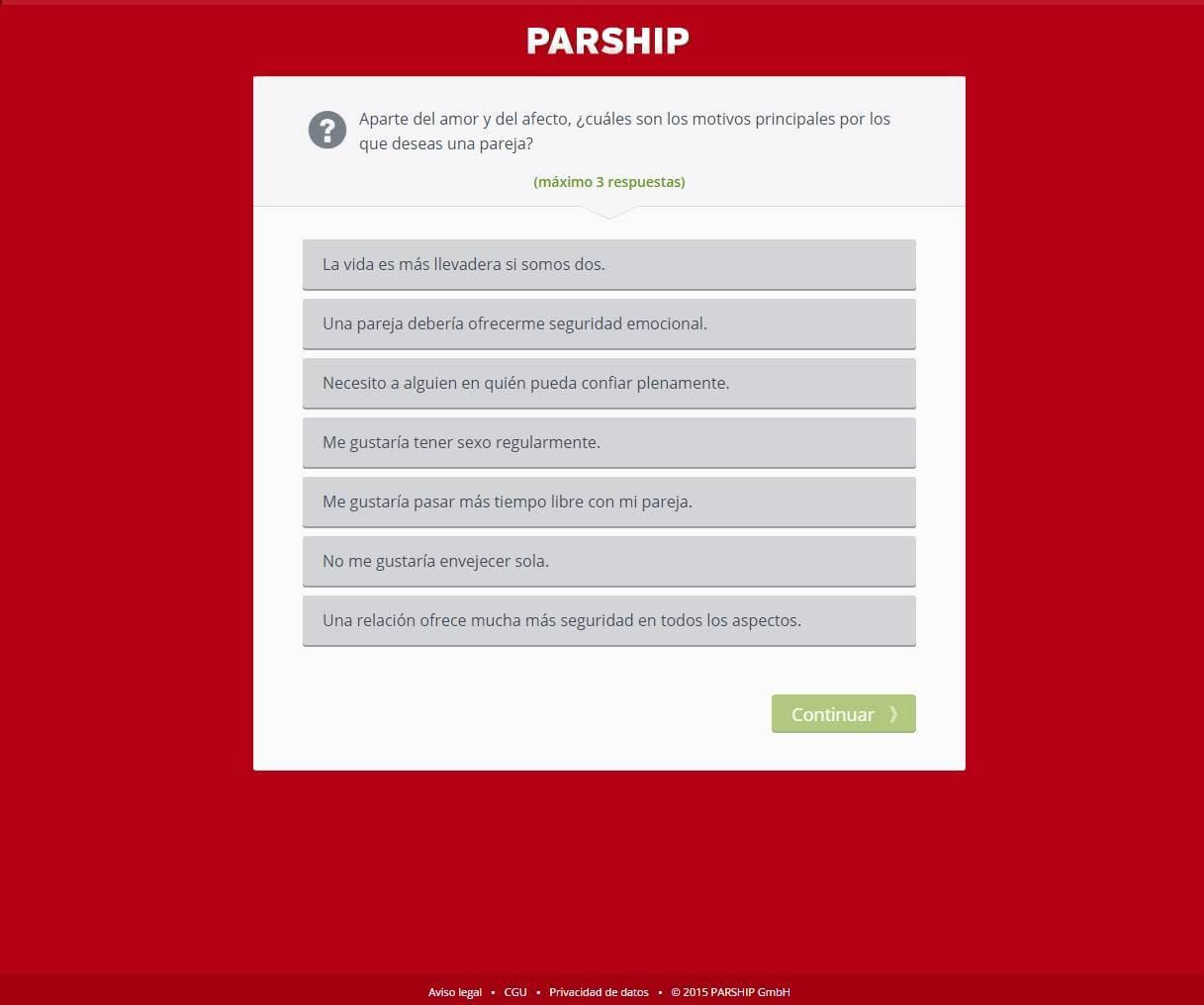 Registro en Parship