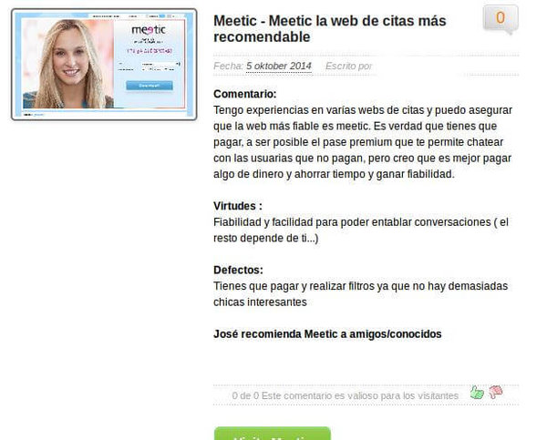 Meetic opinion
