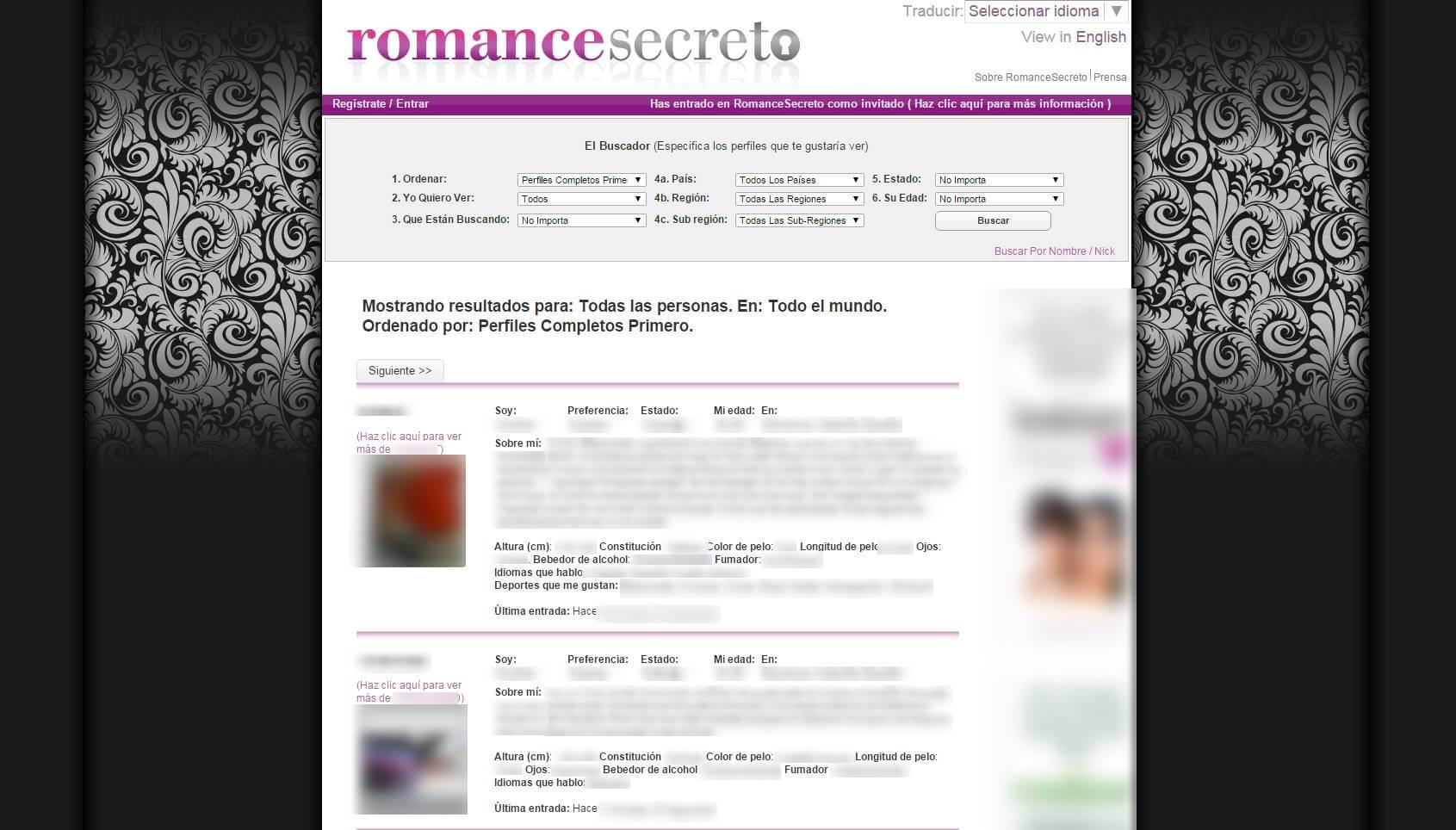 Perfil en romancesecreto